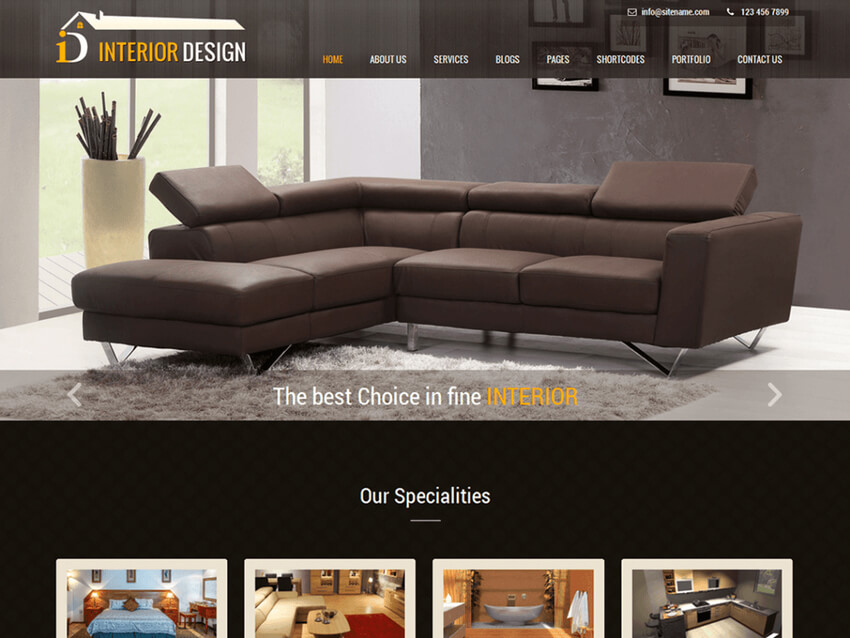 Interior Lite - Free WordPress Theme