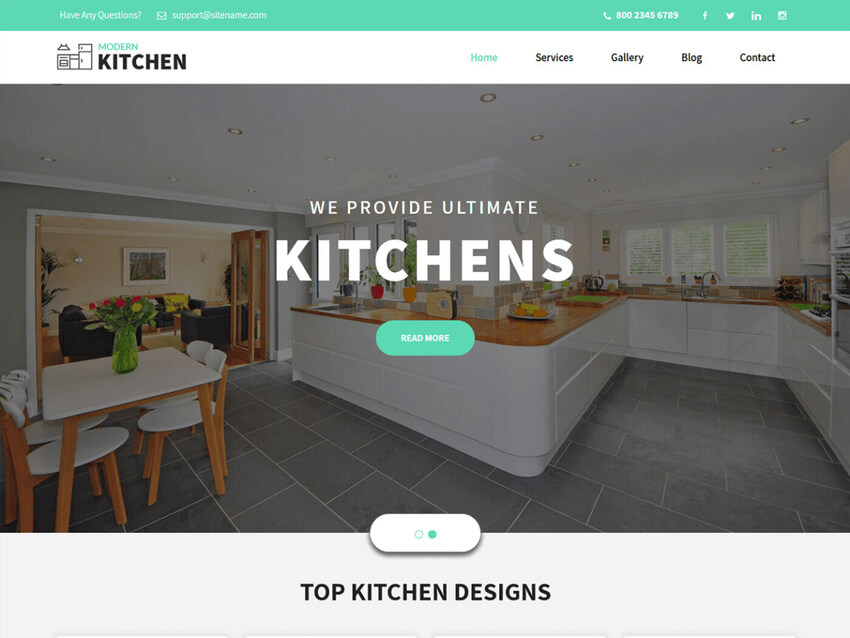 Kitchen Design - Free WordPress Theme