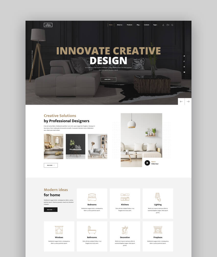 Ollis - Architecture Agency  Interior Design WordPress Theme