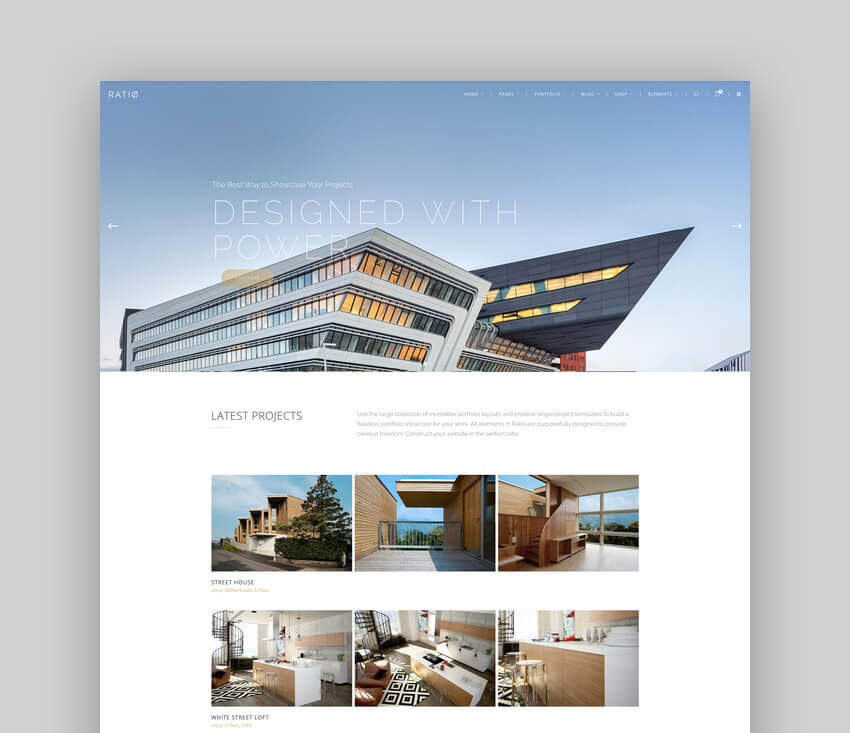 Ratio - A Powerful Interior Design and Architecture Theme For WordPress