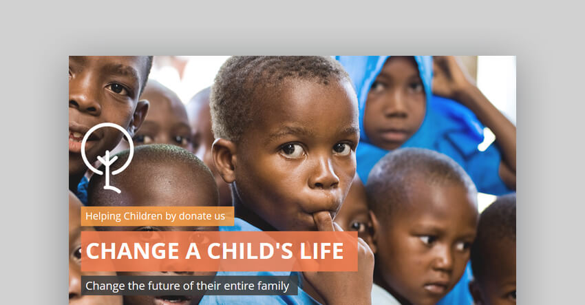 Charity Creative PowerPoint Presentation Template For Churches