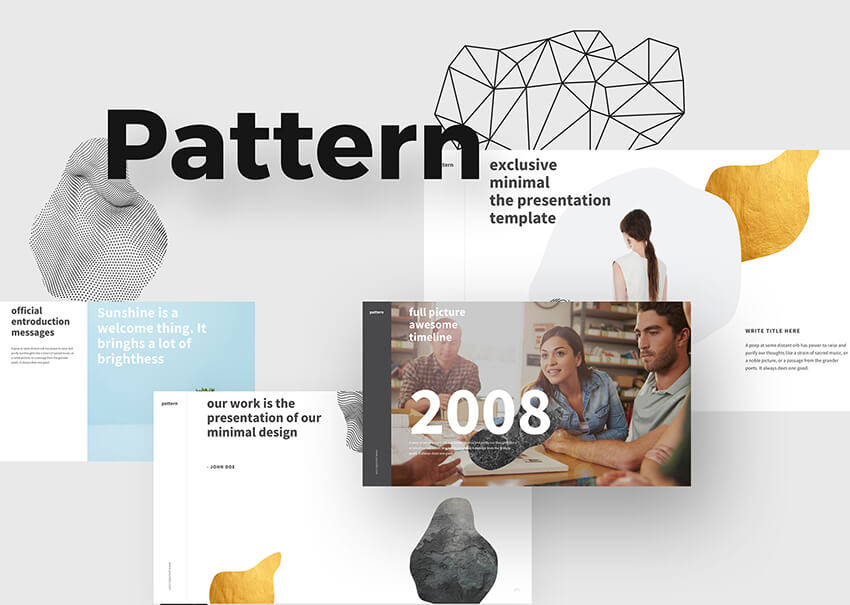 Free Pattern PowerPoint Presentation For Church Presentations