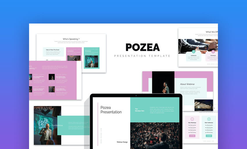 Pozea Webinar Seminar  Conference Powerpoint Template For Churches