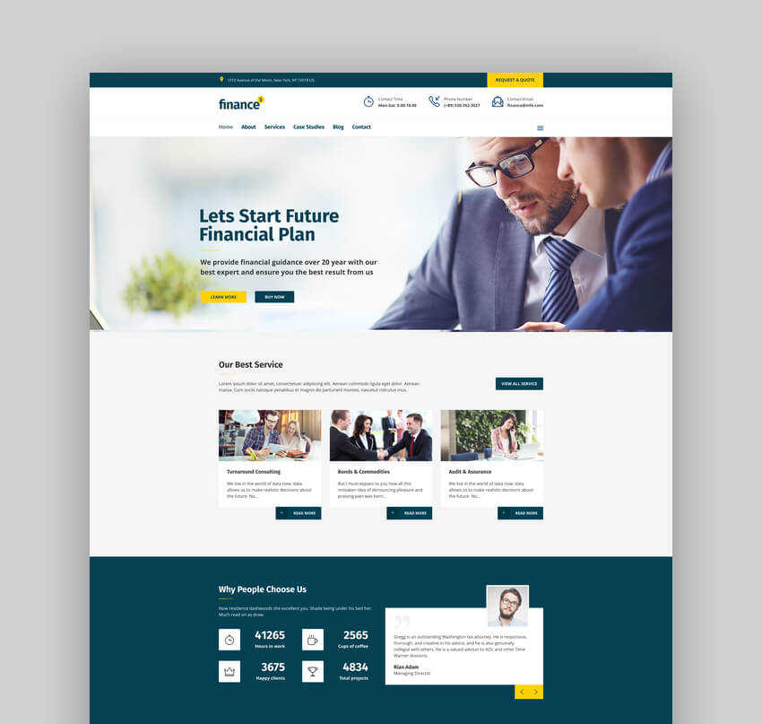 Finance - Financial Business Accounting Theme
