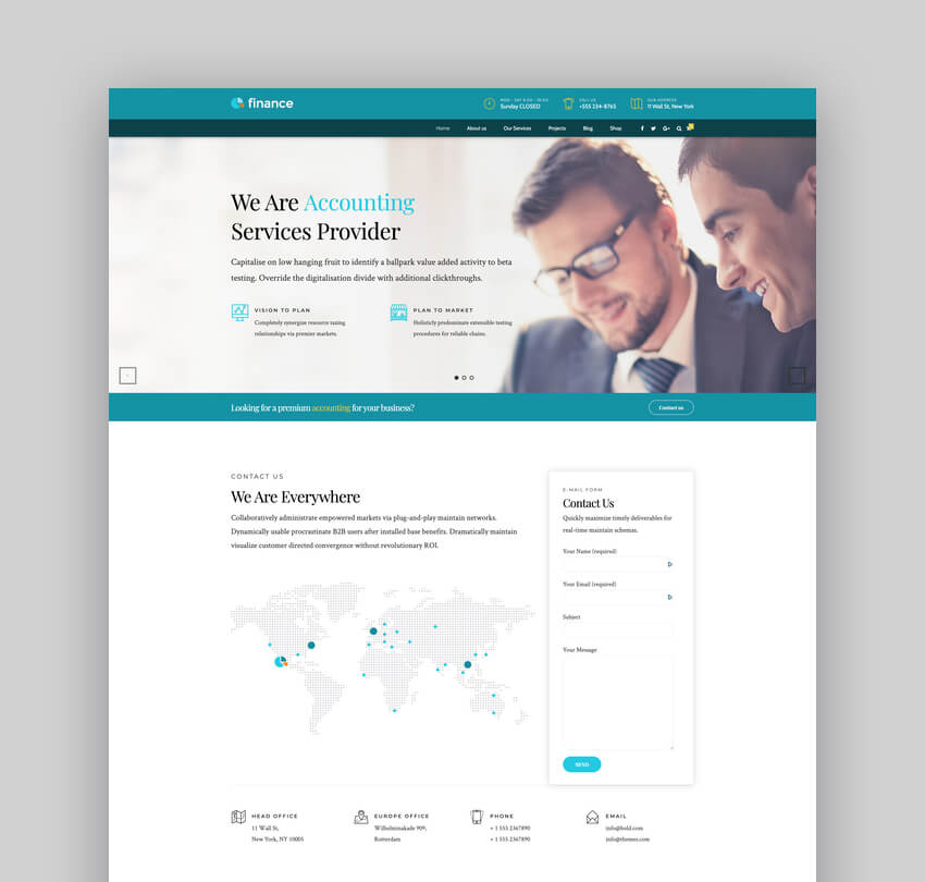 Finance - Accounting  Consulting WordPress Theme