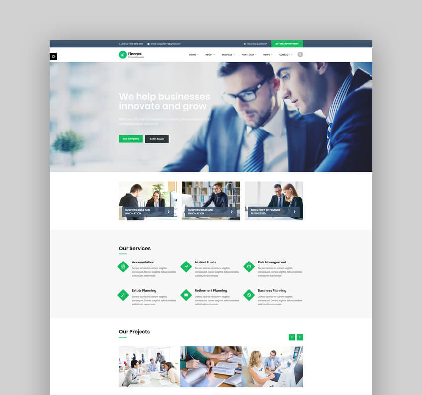 Finance - Consulting Accounting WordPress Theme