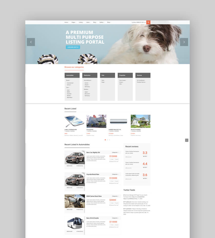 Auto Stars - Car Dealership and Classifieds WordPress Theme