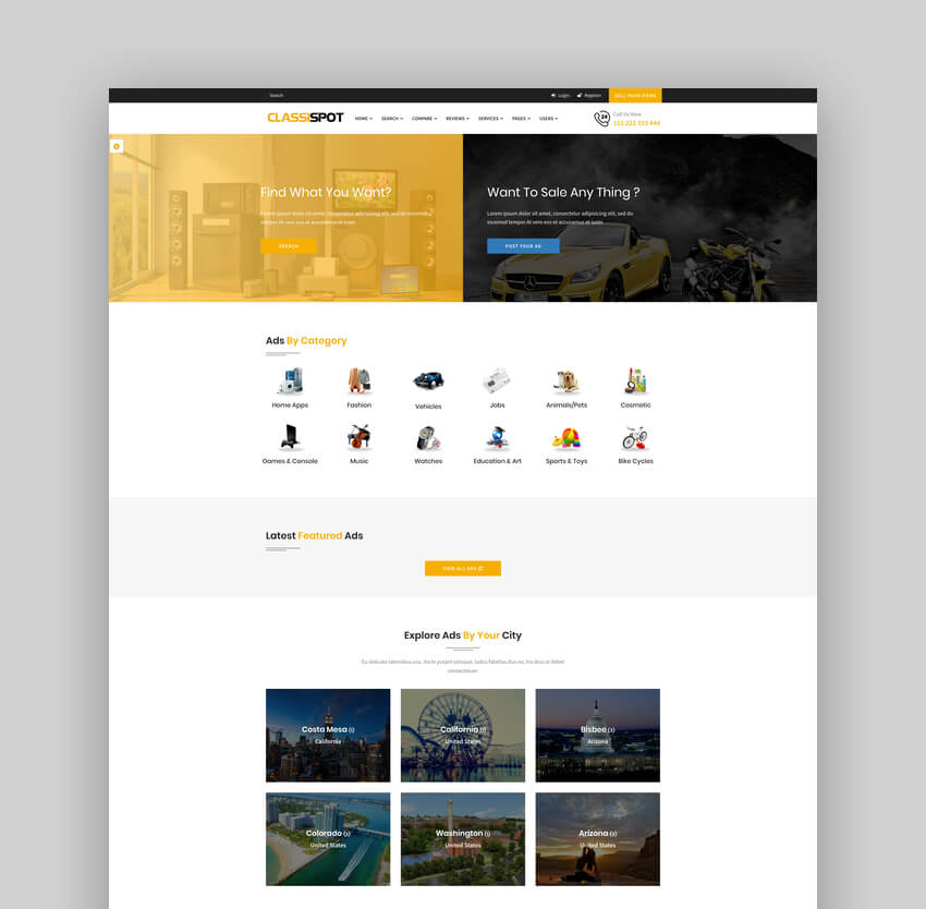 CarSpot  Dealership And Classified WordPress Theme