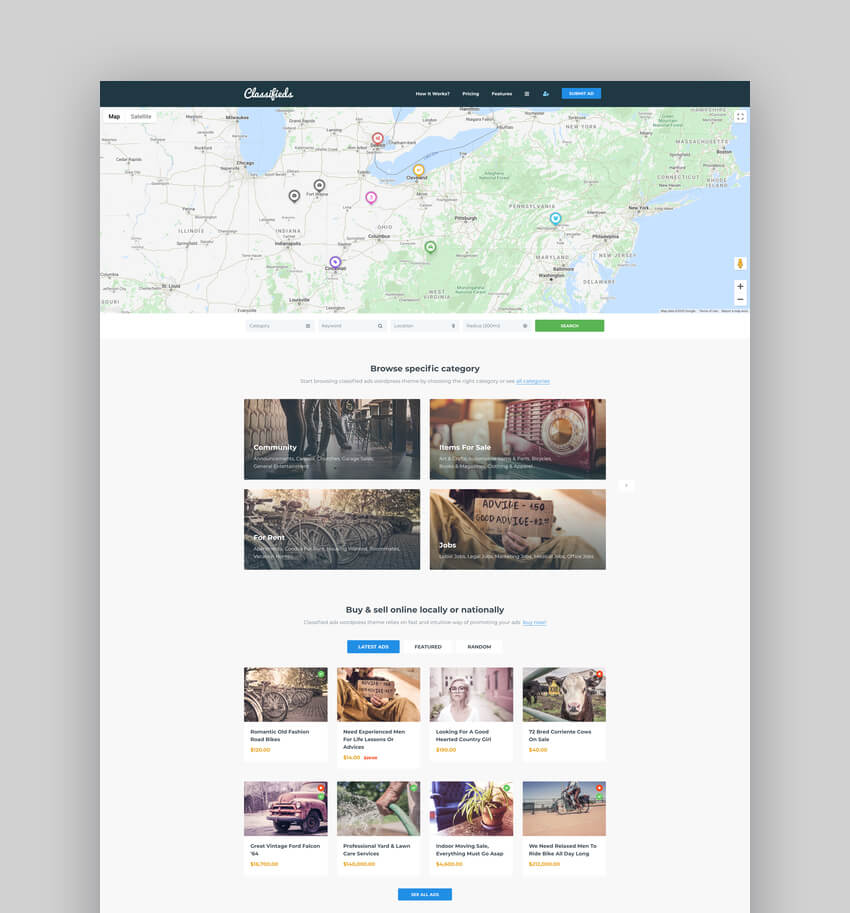 Classifieds - Classified Ads WordPress Theme