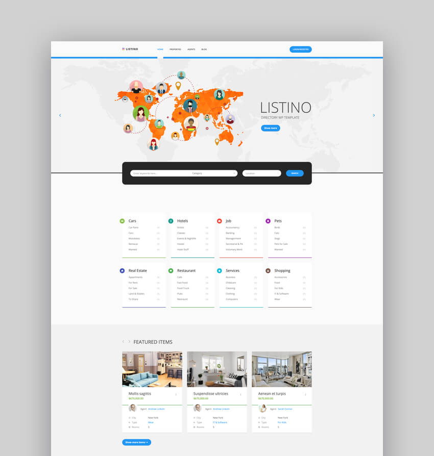 Classified Ads Listing WordPress Theme - Listino