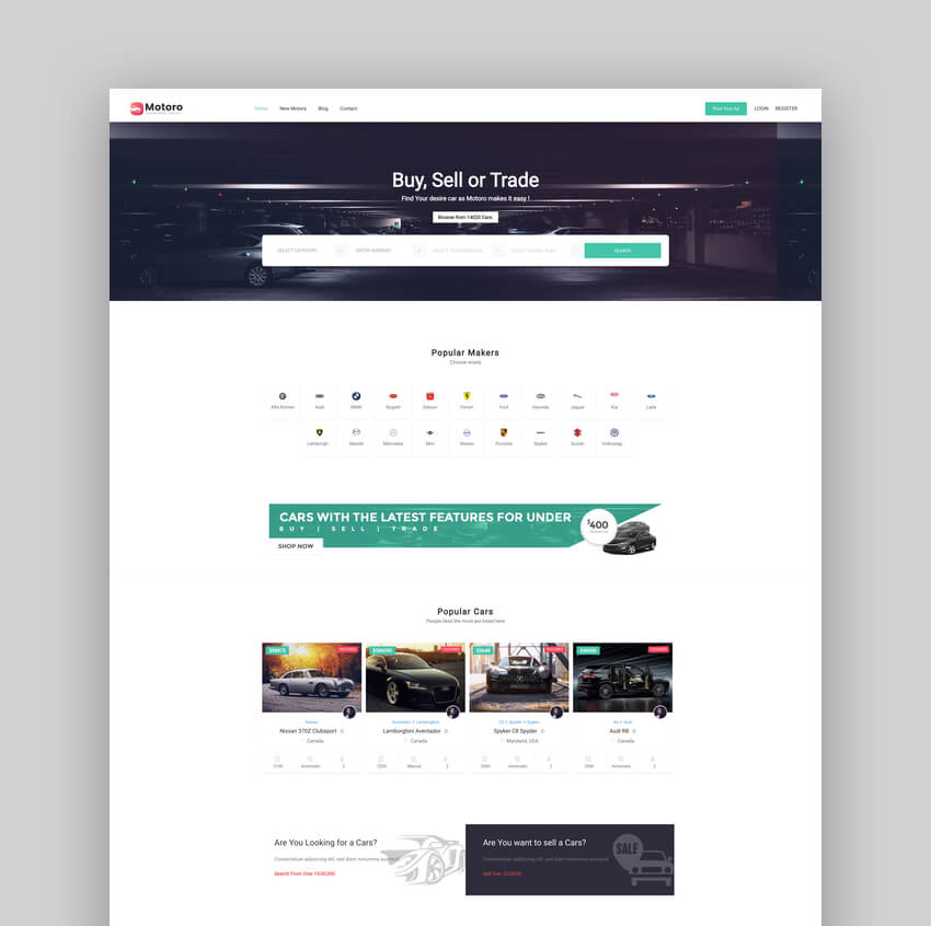 Motoro - Classified Ads WordPress Theme For Car Ads
