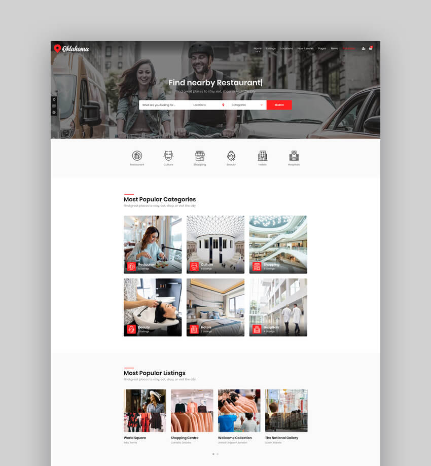 Oklahoma - Directory  Listings WordPress Theme