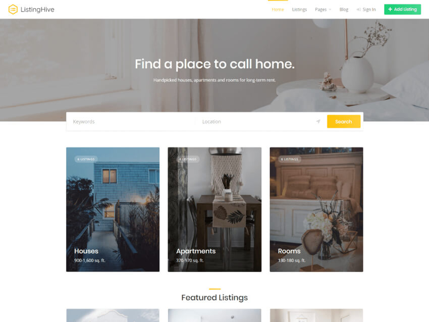 Listing Hive - Free Classified Ads WordPress Theme