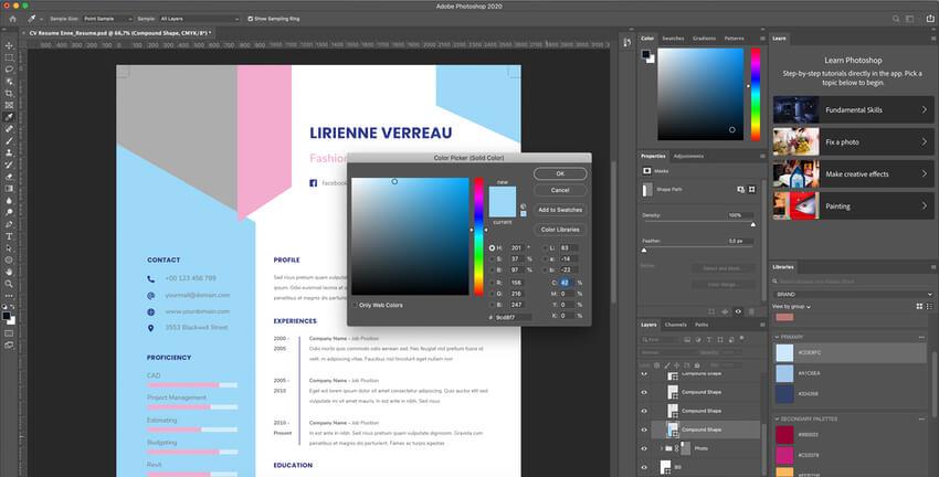 Customizing colors