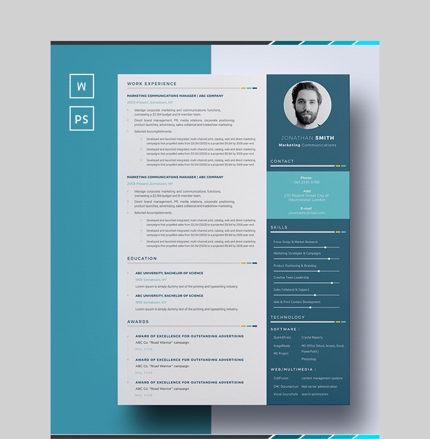 Resume Blue