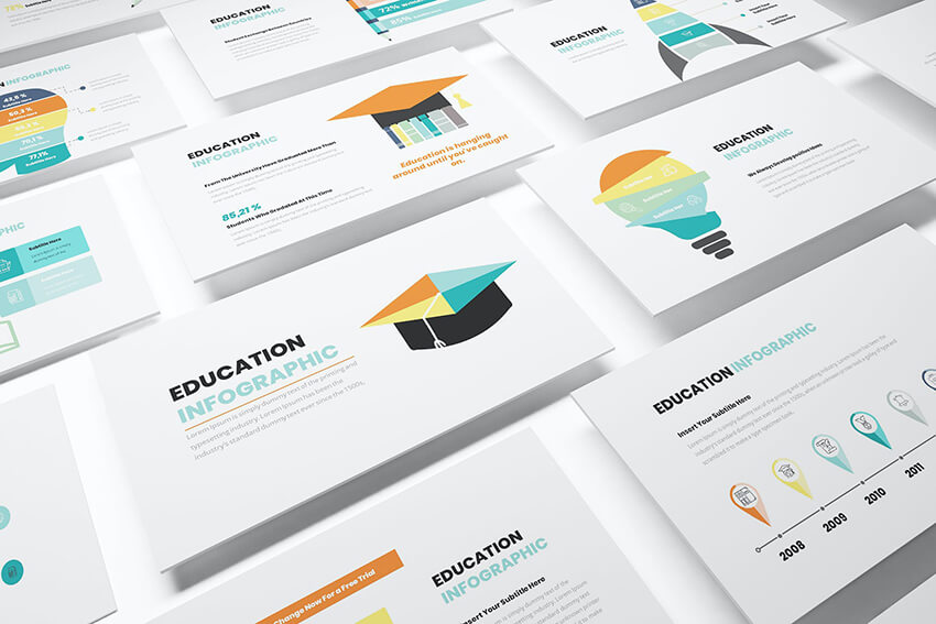 plantilla de PowerPoint Education Infographic