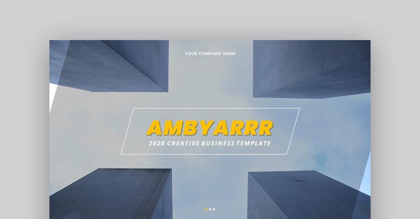 Ambyarrr - Creative Business Google Slides Template