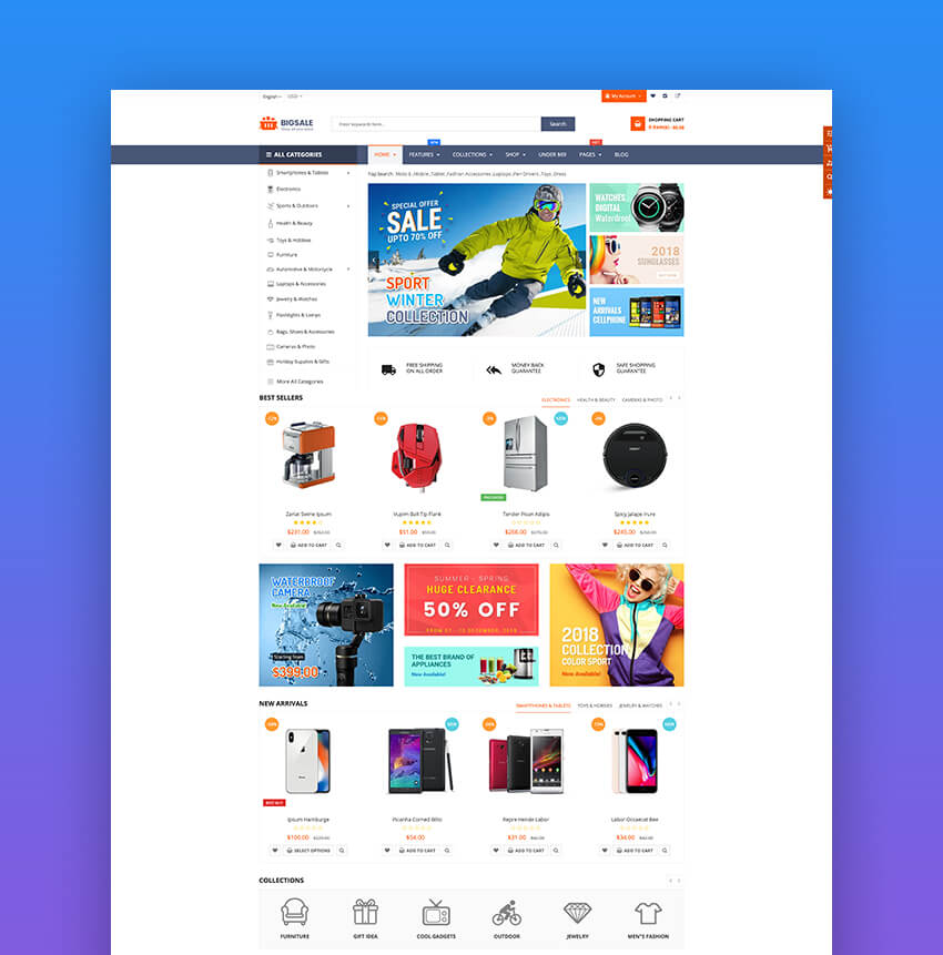 BigSale - Multipurpose Dropshipping Shopify Theme
