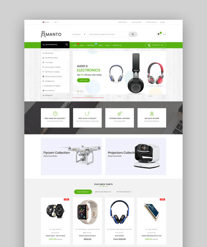Amanto  Multi-Purpose Shopify Theme for Electronics Store