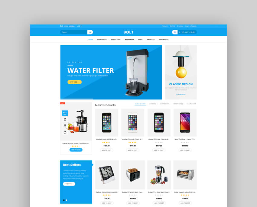 Bolt - Electronics Store Shopify Theme  Template