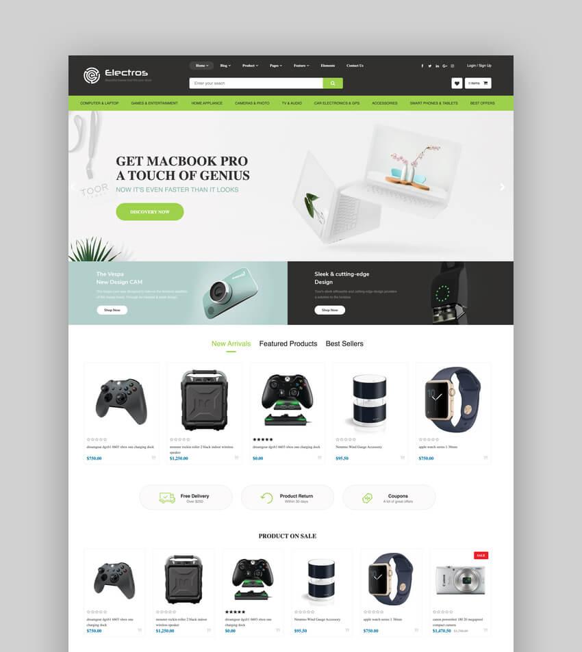 Electros - Electronics Store Shopify Theme