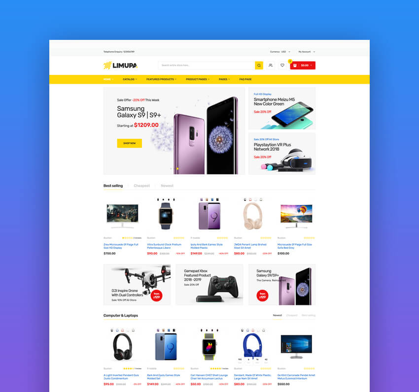 Limupa - Electronics  Technology Shopify Theme