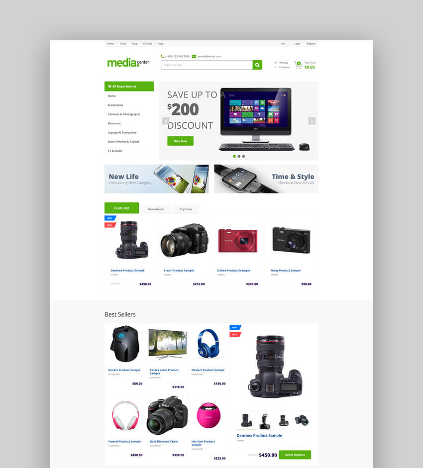 MediaCenter Electronics Store Shopify Theme - Section Ready