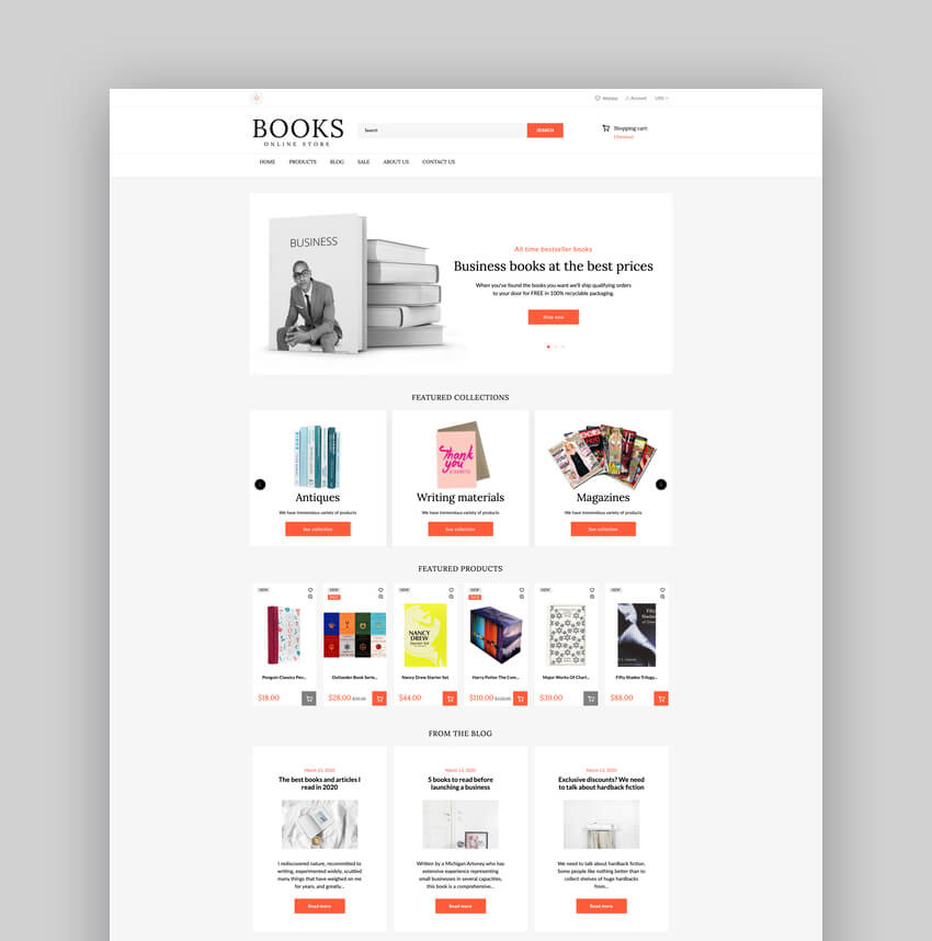 Shopify Books Online Store Template