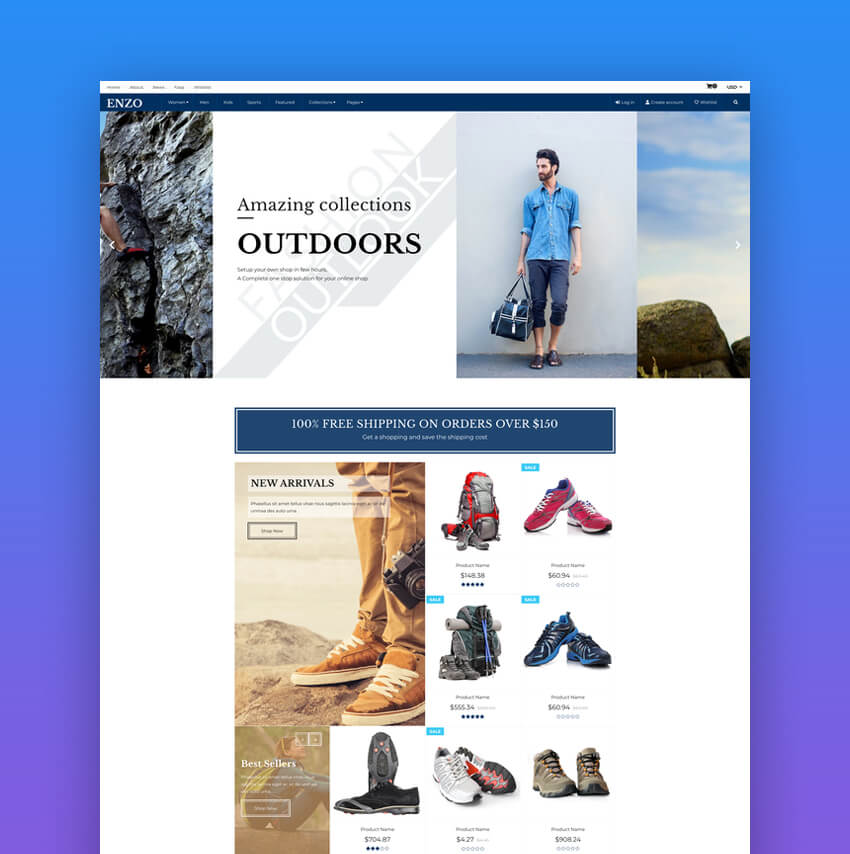 ENZO - Responsive Shopify Multi Purpose Template