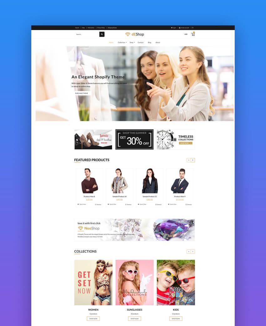 dEShop - Responsive Shopify Store Template