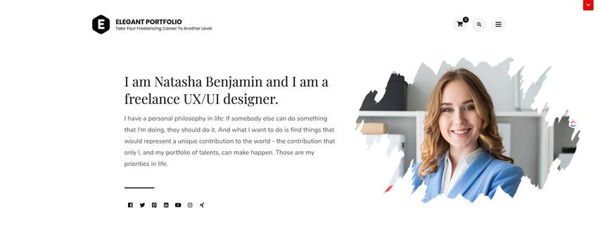 Elegant Portfolio - WordPress Theme