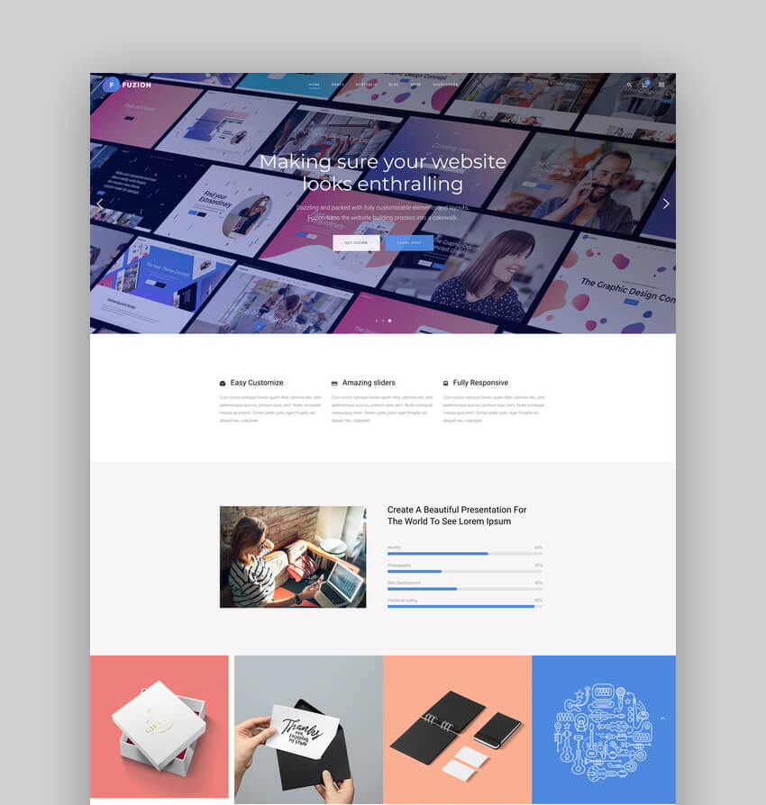 Fuzion - Graphic Design Agency WordPress Theme