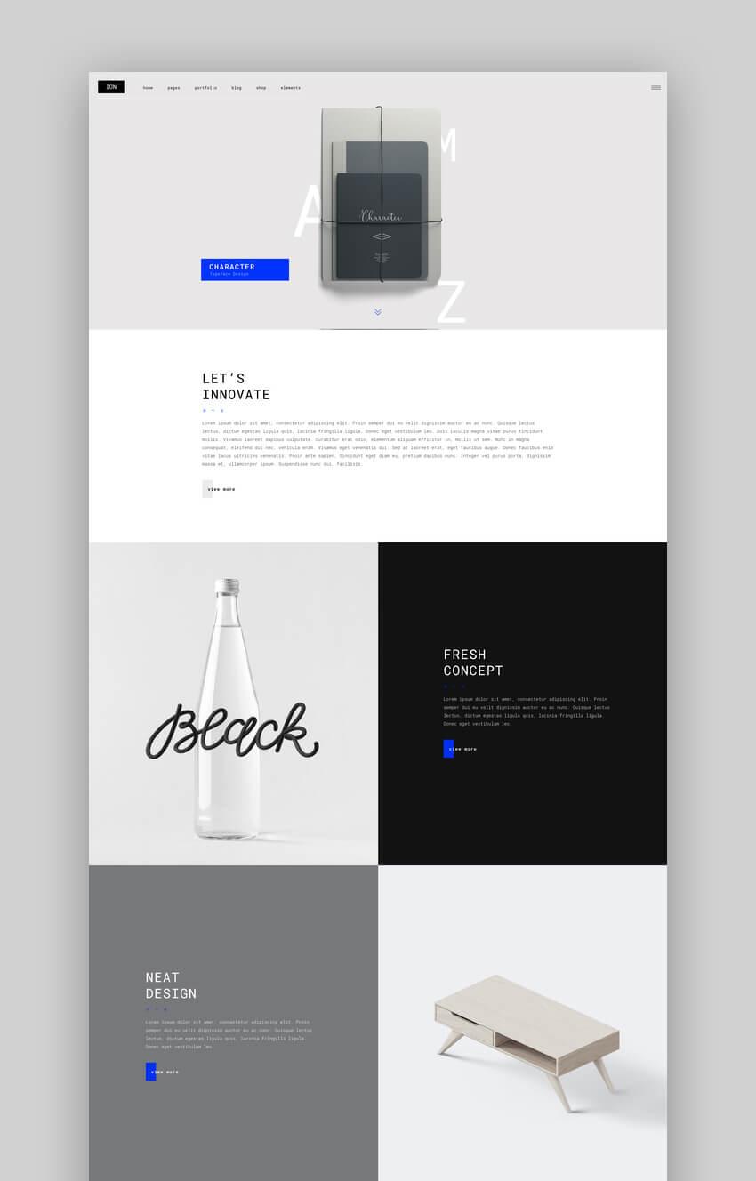 Ion - Creative Graphic Designer Portfolio Theme For WordPress