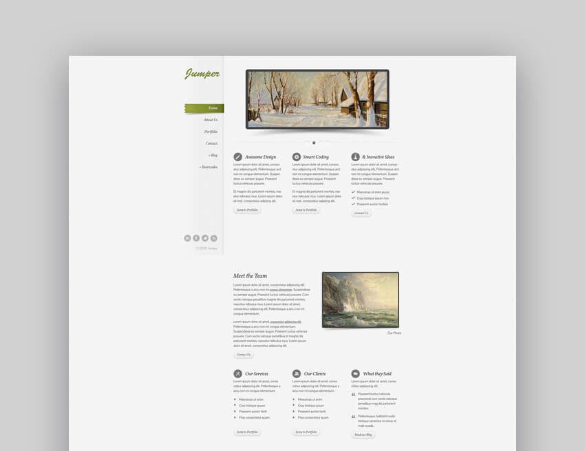 Jumper - Responsive Graphic Design Portfolio WordPress Theme