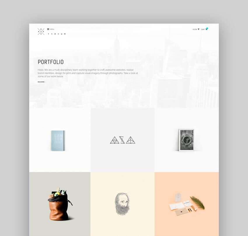ROUA - Hipster Portfolio  Blogging WordPress Theme