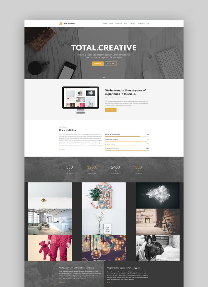 Total Business - Multi-Purpose WordPress Graphic Design Portfolio