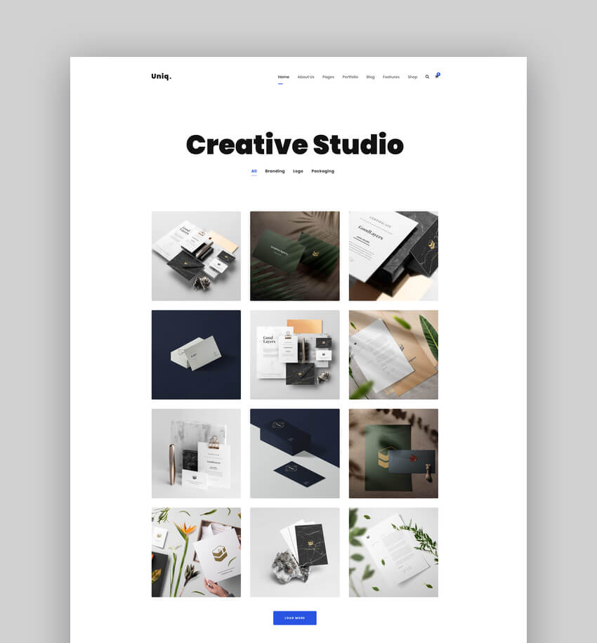 Uniq - Minimal Creative Graphic Design Portfolio Theme For WordPress