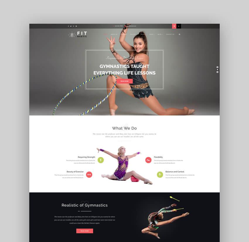 Fitnastic  Gym  Fitness WordPress Theme
