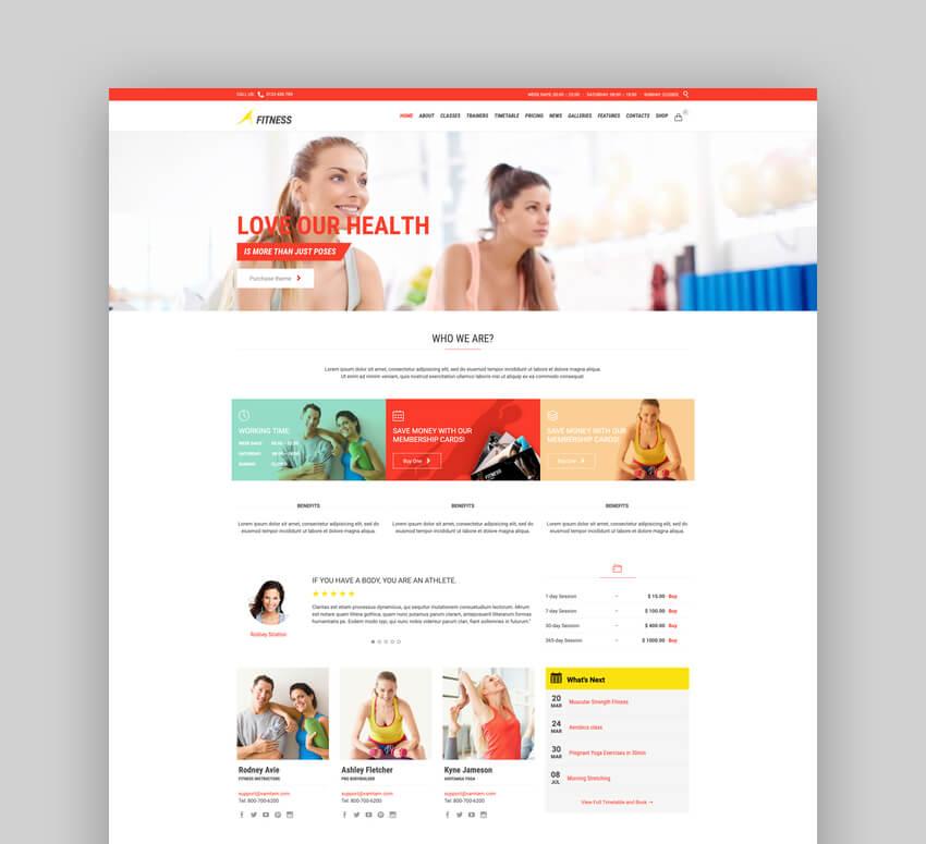 Gym - Fitness WordPress Template