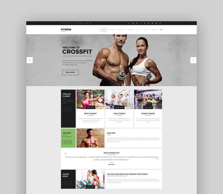 Gym WordPress Theme For Crossfit