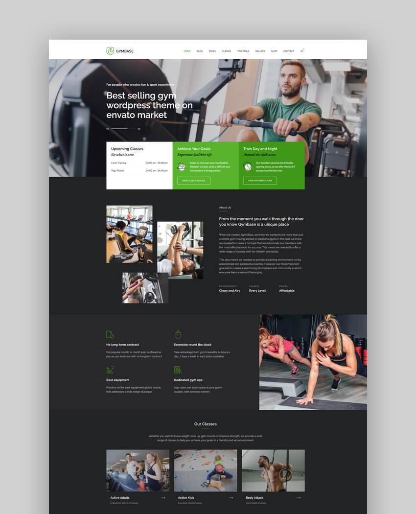 GymBase - Gym Fitness CrossFit WordPress Theme