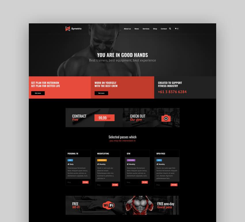 Symetrio - Gym  Fitness WordPress Theme