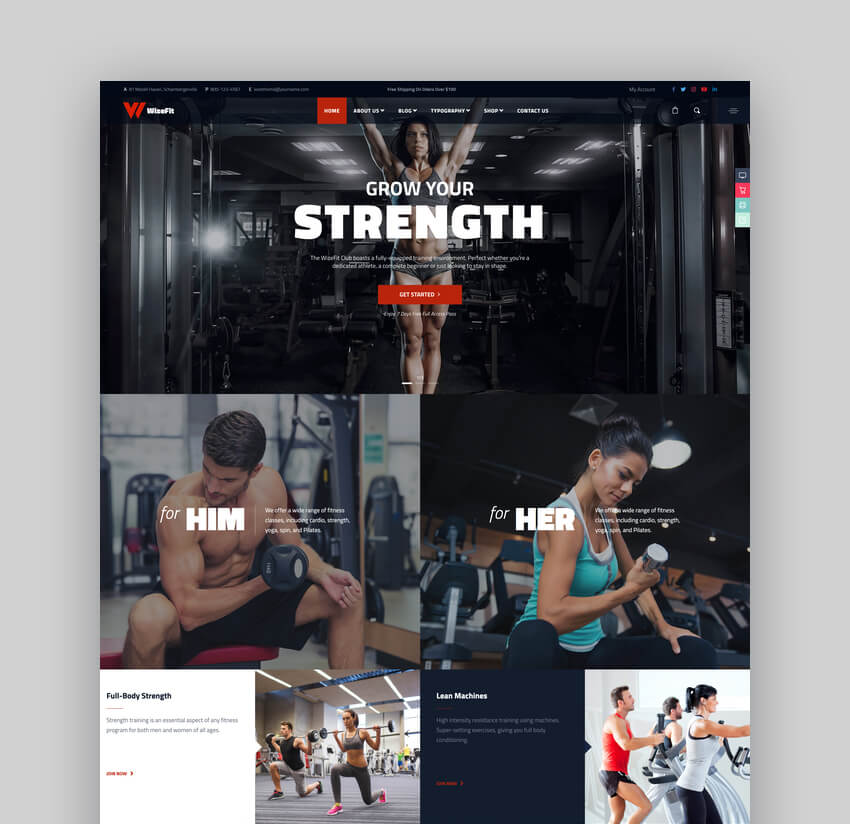 WizeFit - Fitness and Gym WordPress Theme For CrossFit Websites