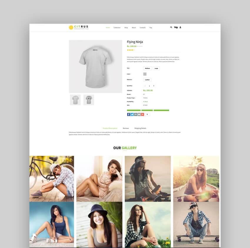 Citrus - One Page Shopify Theme