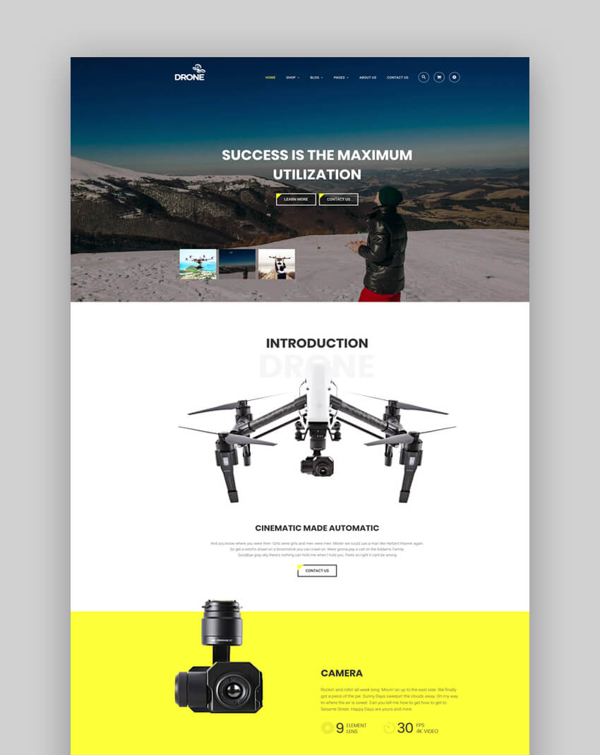 Drone - Single Product Store Shopify Theme