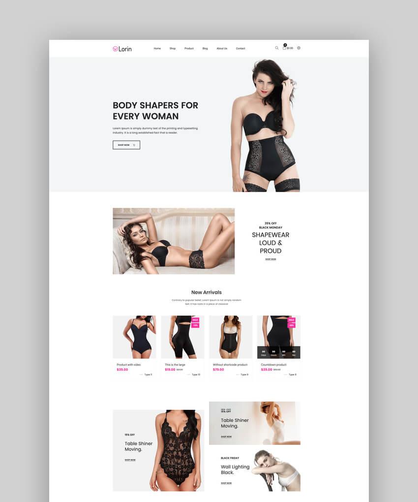 Lorin  Shapewear Shopify Theme