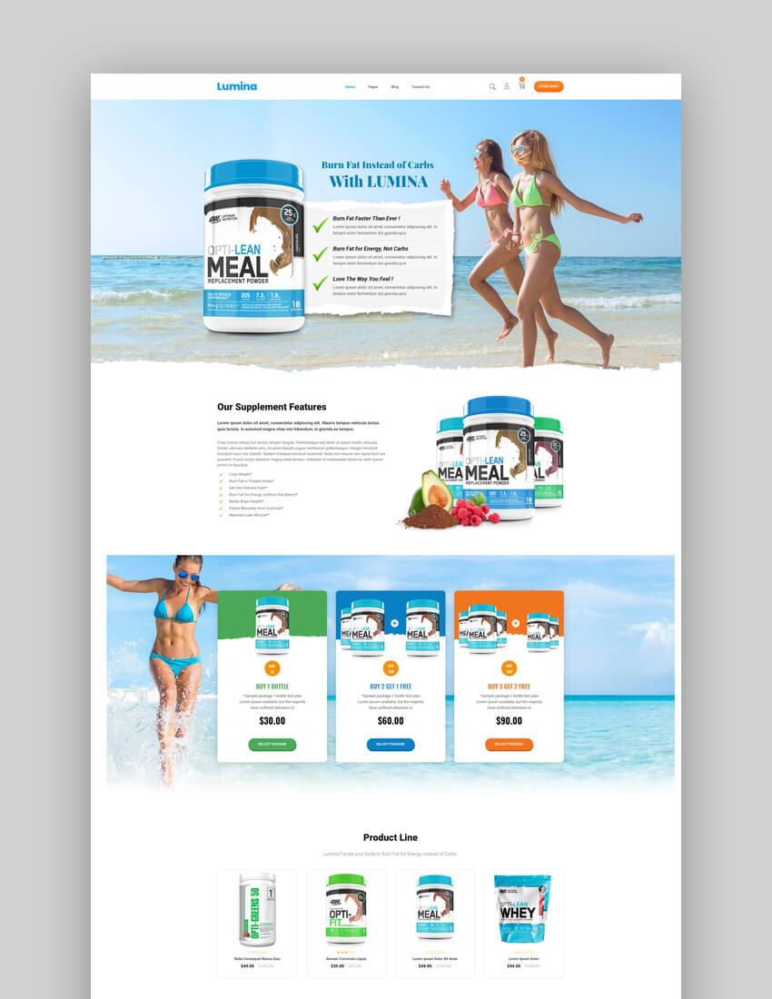 Lumina - Single Product Product Line Shopify Theme