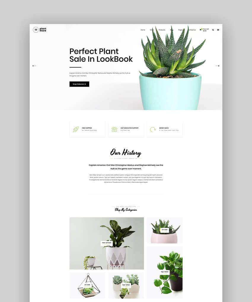 Plantmore - Flower Nursery Shopify Theme
