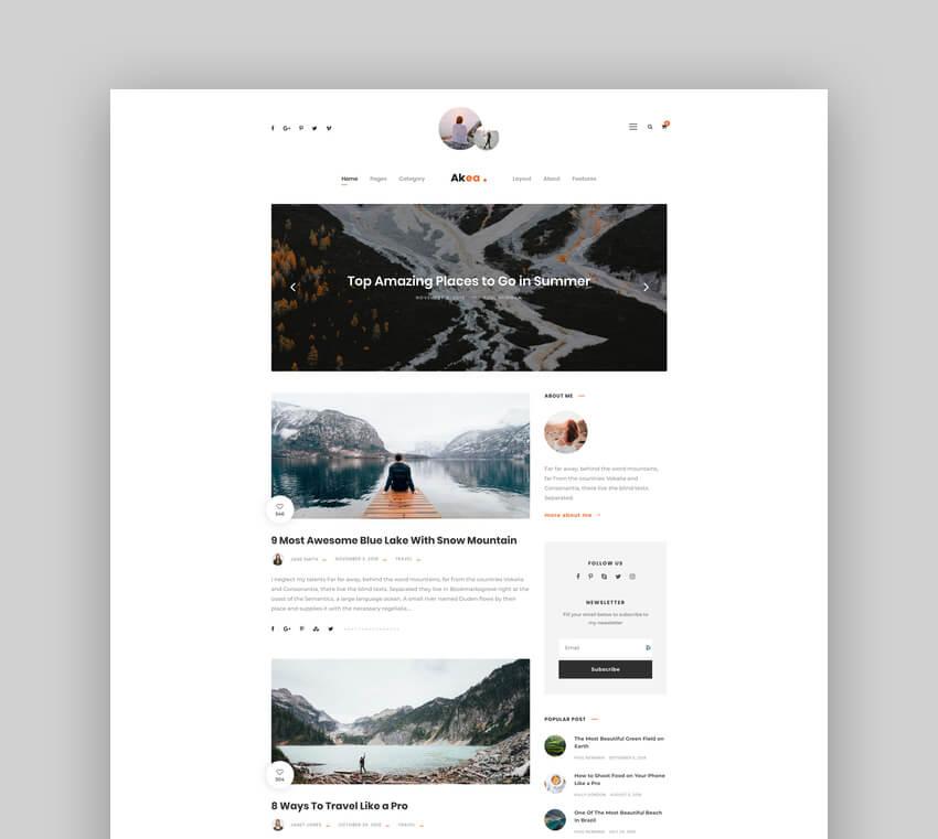 Akea - Family WordPress Blog
