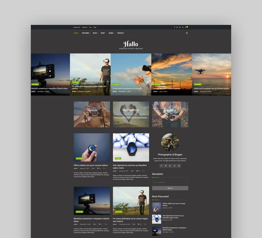 Hallo - Lifestyle Family WordPress Blog Theme